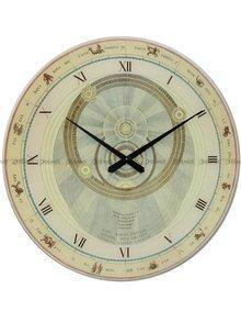 Duży szklany zegar ścienny Haller Horoskop 60 cm
