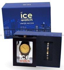 Zegarek Ice-Watch - Ice Glitter Black Gold 018690 M - Z bransoletką w zestawie - Limitowana edycja
