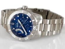 Zegarek Męski Balticus Anglerfish – Żabnica, niebieska tarcza - W zestawie dodatkowy pasek