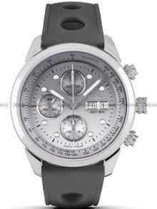 Zegarek Męski Balticus Grey Seal III Chrono - szary - Dwa paski i bransoleta w zestawie