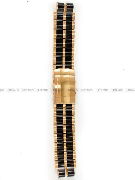 Bransoleta stalowa do zegarka Vostok Energia NH35A-575E282 - 20 mm - czarna z różowym złotem