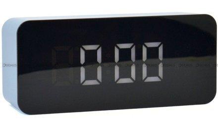 Budzik cyfrowy z termometrem JVD SB6612.2 - 7x16 cm