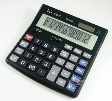Kalkulator biurowy Vector CD-2455