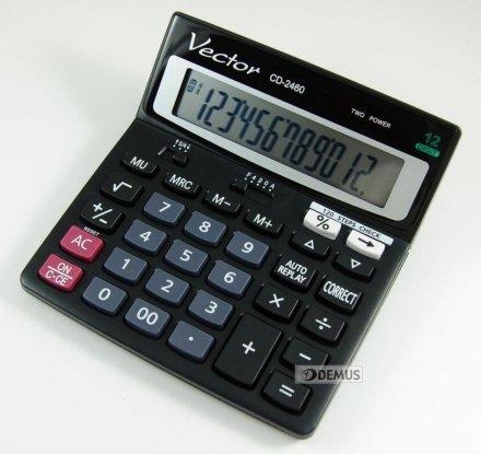 Kalkulator biurowy Vector CD-2460