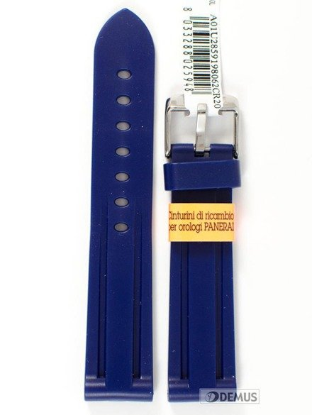 Pasek do zegarka gumowy - Morellato A01U2859198062 20 mm
