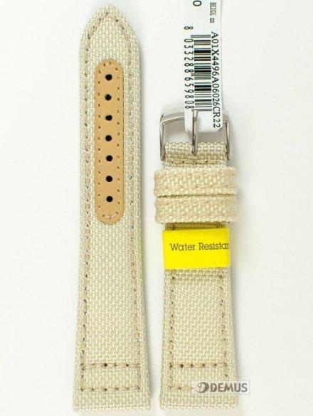 Pasek do zegarka materiałowy wodoodporny - Morellato A01X4496A06026 22mm