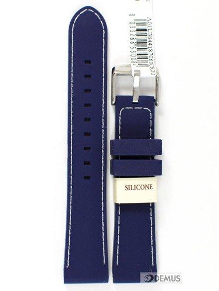 Pasek do zegarka silikonowy - Morellato A01U3844187060 20 mm