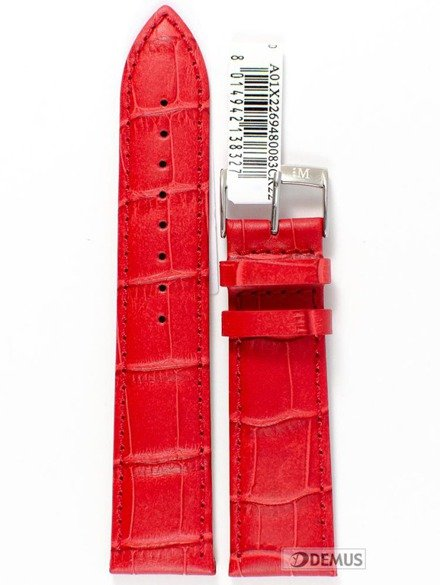 Pasek do zegarka skórzany - Morellato A01X2269480093 22 mm