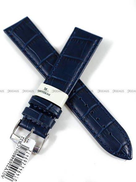 Pasek do zegarka skórzany - Morellato A01Y2269480061CR22 - 22 mm XL