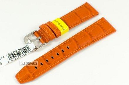 Pasek do zegarka wodoodporny skórzany - Morellato A01X4497B44086 22mm