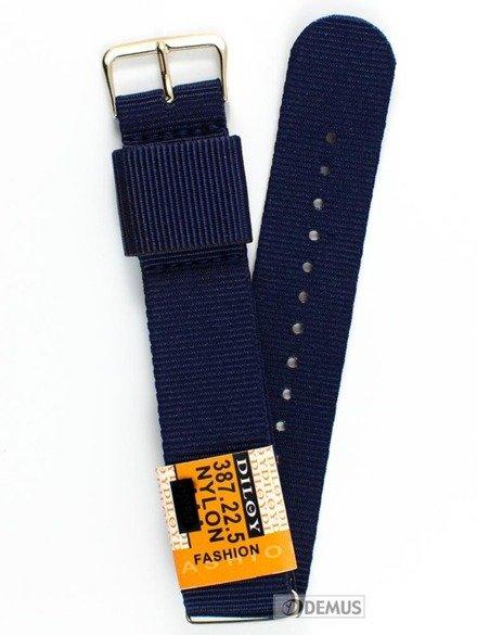 Pasek nylonowy do zegarka - Diloy 387.22.5 - 22 mm
