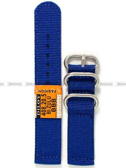 Pasek nylonowy do zegarka - Diloy 408.20.5 - 20 mm