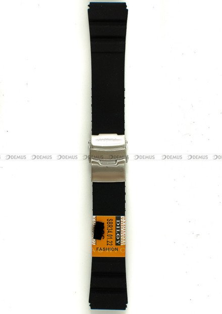 Pasek silikonowy Diloy do zegarka - SBR34.22.1 - 22 mm