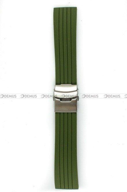Pasek silikonowy do zegarka - Chermond PG6.24.31 - 24 mm