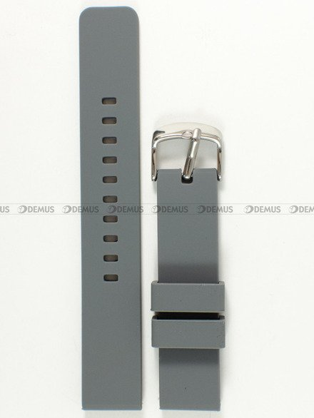 Pasek silikonowy do zegarka - Chermond PG8.18.11 - 18 mm