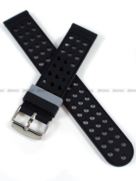 Pasek silikonowy do zegarka - Demus PGS2.20.1.11 - 20 mm