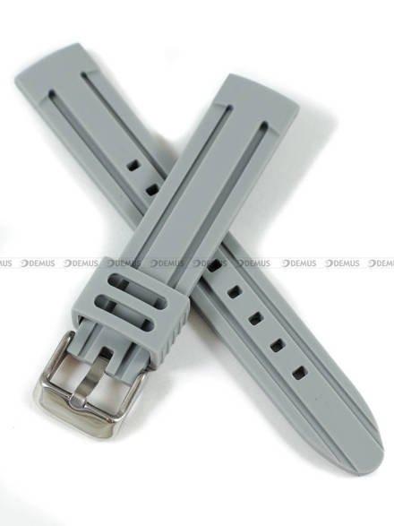 Pasek silikonowy do zegarka - Demus PGS4.18.11 - 18 mm
