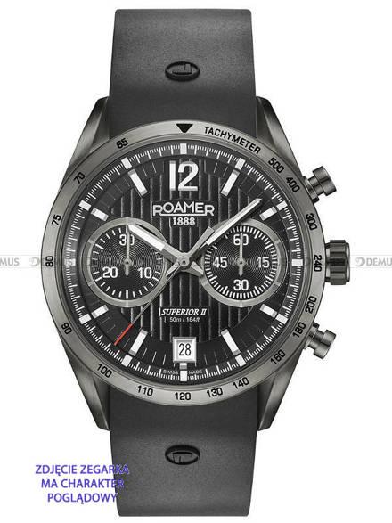 Pasek silikonowy do zegarka Roamer - 510902 45 54 05   - 22 mm - bez klamerki