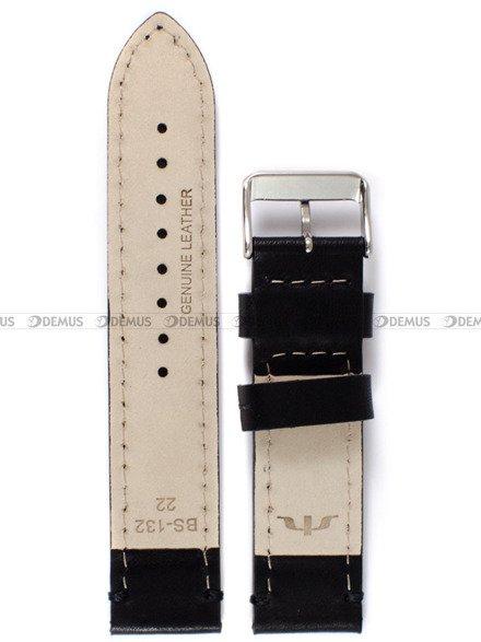 Pasek skórzany do zegarka Bisset - PB102.22.1 - 22 mm
