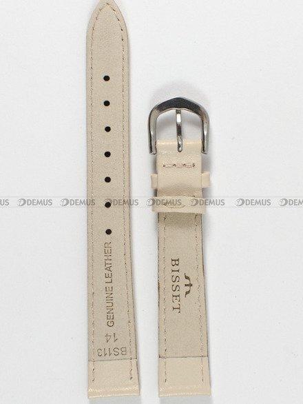 Pasek skórzany do zegarka Bisset - PB5.14.17 - 14 mm