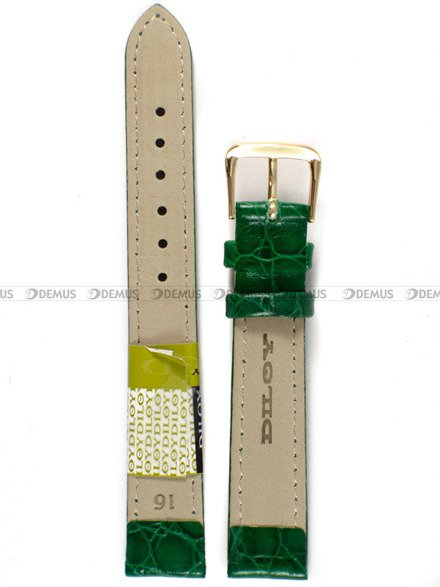 Pasek skórzany do zegarka - Diloy 119.16.11 - 16 mm