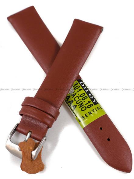 Pasek skórzany do zegarka - Diloy 301.18.8 - 18 mm