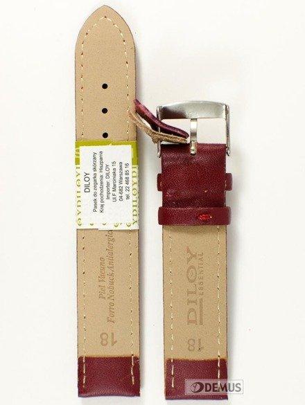 Pasek skórzany do zegarka - Diloy 302.18.4 18mm