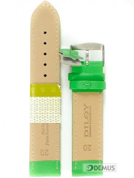 Pasek skórzany do zegarka - Diloy 302.20.11 - 20mm