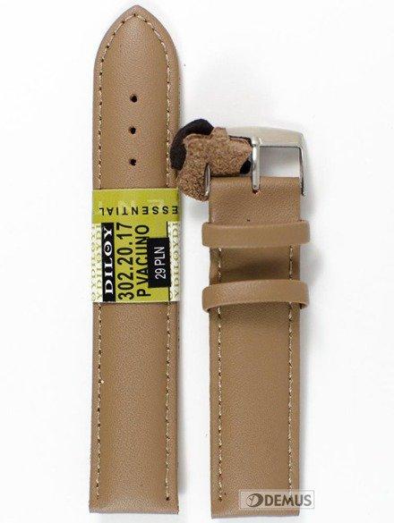 Pasek skórzany do zegarka - Diloy 302.20.17 - 20mm
