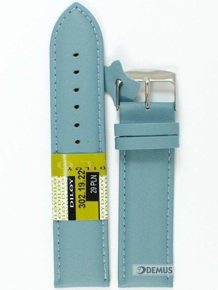 Pasek skórzany do zegarka - Diloy 302.22.19 - 22mm