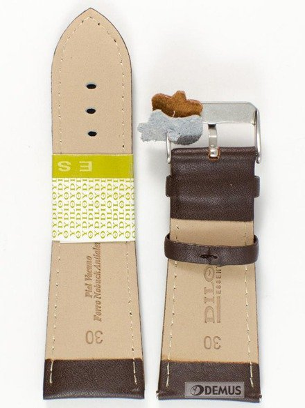 Pasek skórzany do zegarka - Diloy 302EA.30.2 30mm