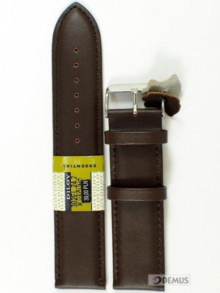 Pasek skórzany do zegarka - Diloy 302EL.24.2 - 24mm