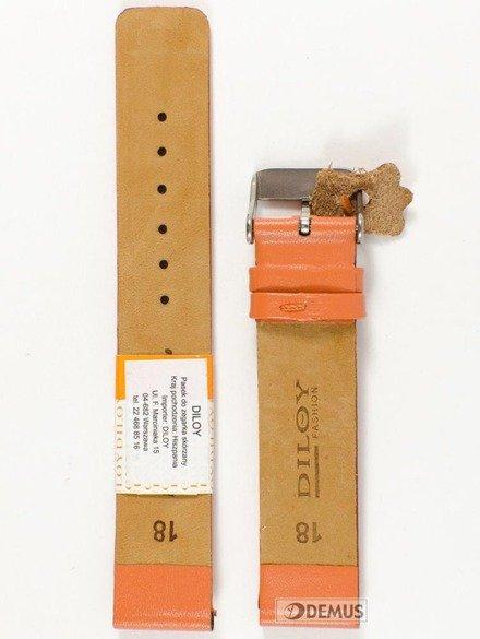 Pasek skórzany do zegarka - Diloy 327.18.12 - 18mm