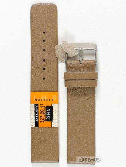 Pasek skórzany do zegarka - Diloy 327.20.17 - 20mm