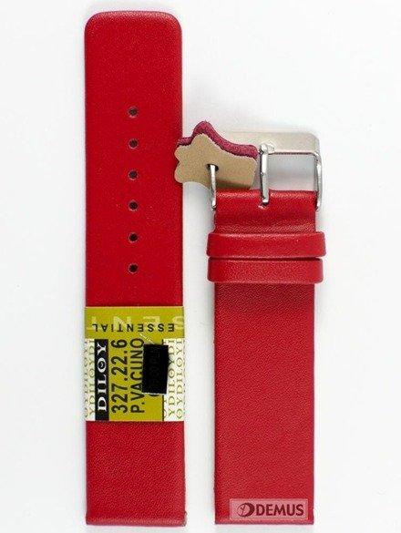 Pasek skórzany do zegarka - Diloy 327.22.6 - 22 mm
