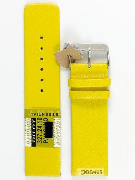 Pasek skórzany do zegarka - Diloy 327.24.10 - 24 mm