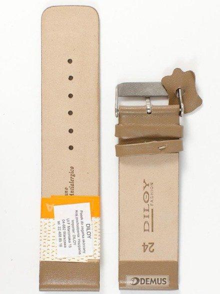 Pasek skórzany do zegarka - Diloy 327.24.17 - 24mm
