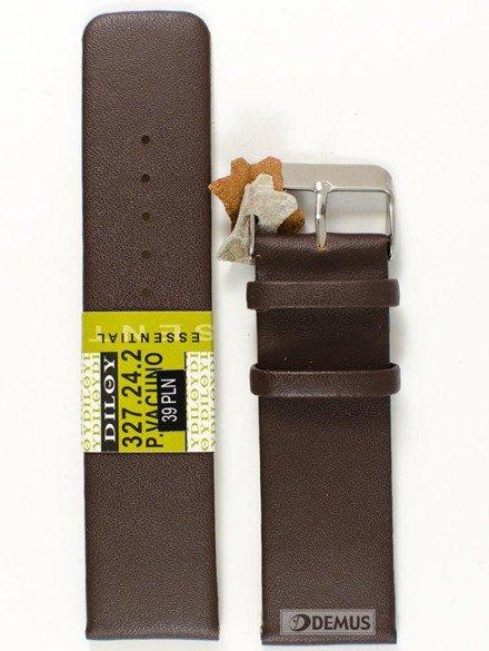 Pasek skórzany do zegarka - Diloy 327.24.2 - 24mm