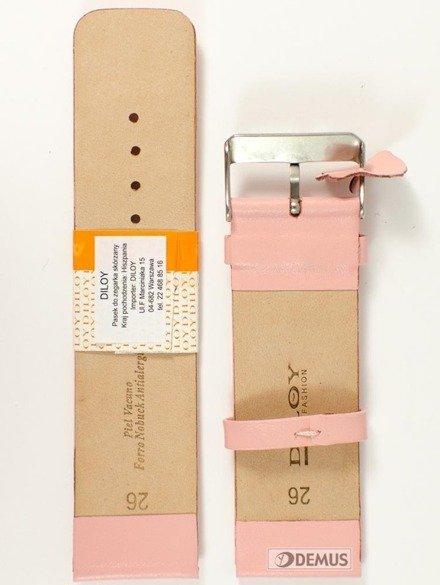 Pasek skórzany do zegarka - Diloy 327.26.13 - 26mm