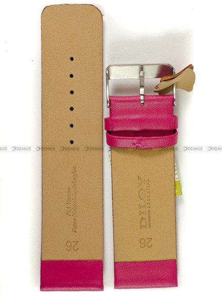 Pasek skórzany do zegarka - Diloy 327.26.14 - 26 mm