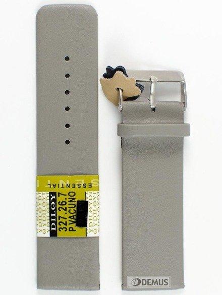 Pasek skórzany do zegarka - Diloy 327.26.7 - 26 mm