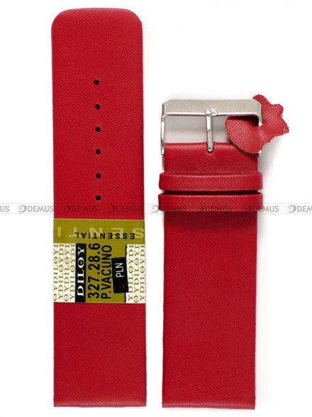 Pasek skórzany do zegarka - Diloy 327.28.6 - 28 mm