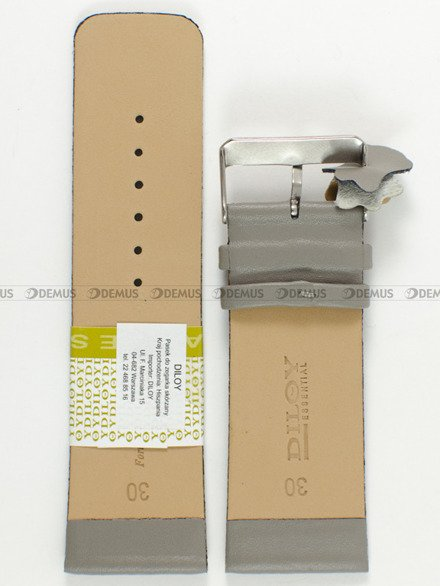 Pasek skórzany do zegarka - Diloy 327.30.7 - 30 mm