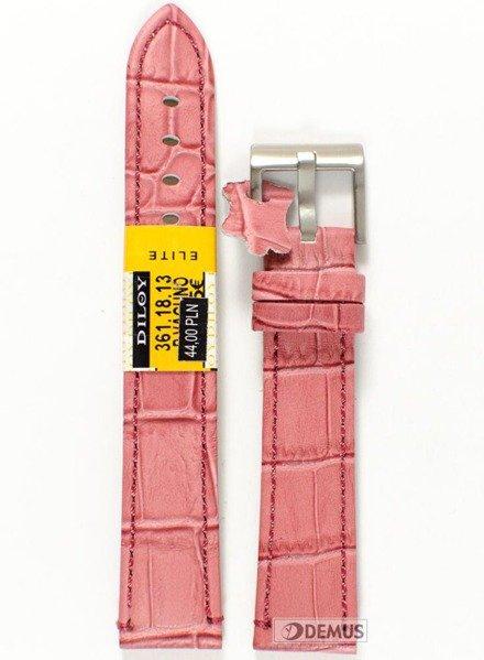 Pasek skórzany do zegarka - Diloy 361.18.13 - 18mm