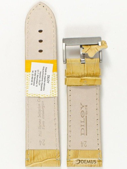 Pasek skórzany do zegarka - Diloy 361.24.17 - 24mm