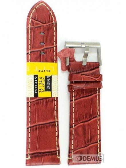 Pasek skórzany do zegarka - Diloy 361.24.4 - 24mm