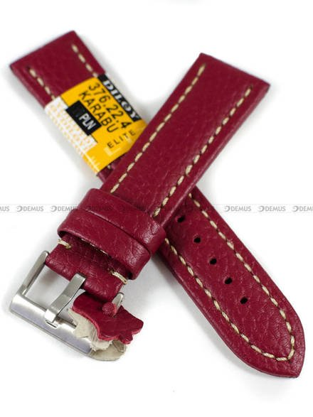 Pasek skórzany do zegarka - Diloy 376.22.4 - 22mm
