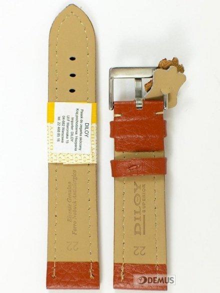 Pasek skórzany do zegarka - Diloy 376.22.8 - 22mm