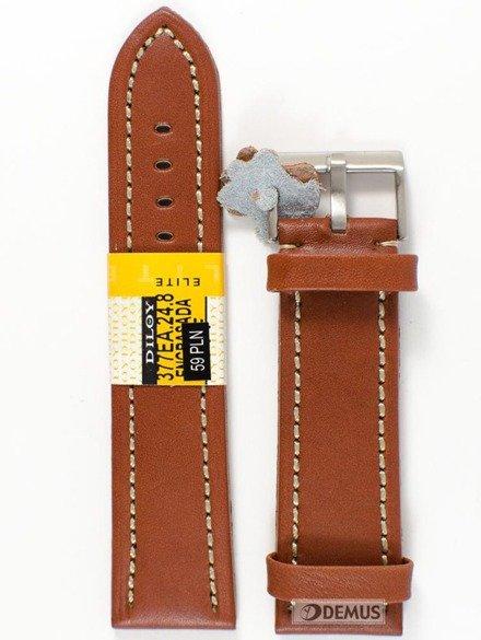 Pasek skórzany do zegarka - Diloy 377EA.24.8 - 24 mm