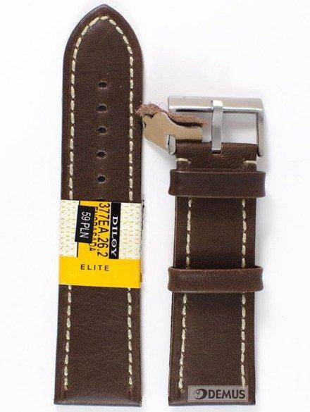 Pasek skórzany do zegarka - Diloy 377EA.26.2 - 26 mm